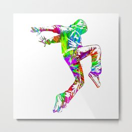 Hip Hop Colorful Metal Print