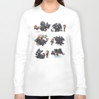 how to train your dragon Long Sleeve T-shirts featuring How Not to Train Your Dragon by Dooomcat