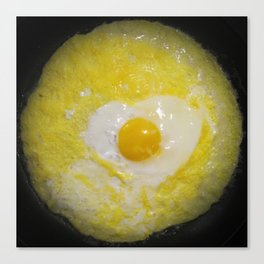 Egg on Eggs Canvas Print