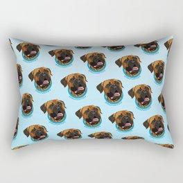 Bullmastiff Print Rectangular Pillow