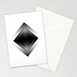black color energy vibration Stationery Cards