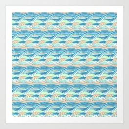Waves Pattern Art Print