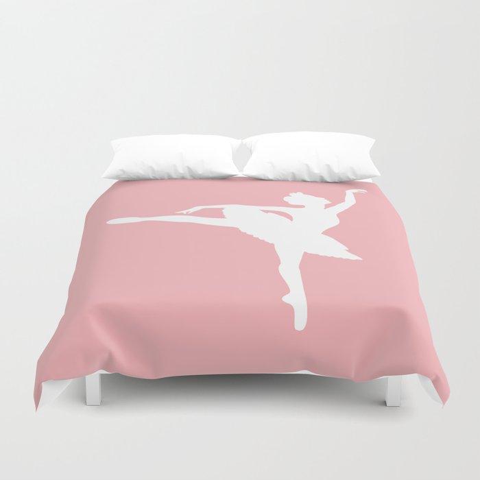 Pink and white Ballerina Bettbezug