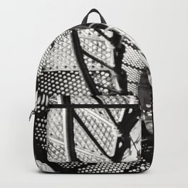 Spiral staircase black and white Backpack