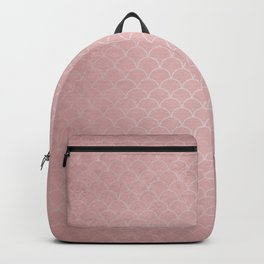 Grunge textured rose quartz small scallop pattern Backpack