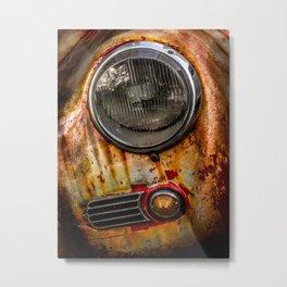 Rusty old Porsche Metal Print