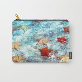 Watercolor Sealife, Cushion Starfish 01, St John, USVI, Underwater Constellations Carry-All Pouch