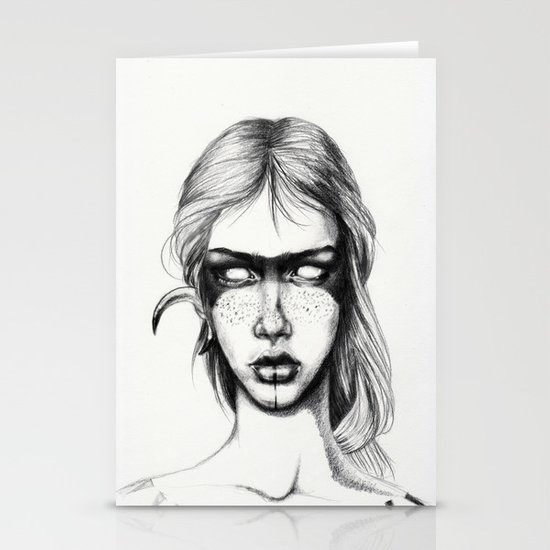 Nocturnal Warrior Sketch Stationery Cards