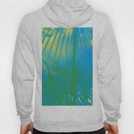 turquoise palm leaf Hoody