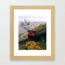 An Autumn Day on the Duquesne Incline in Pittsburgh, Pennsylvania Framed Art Print