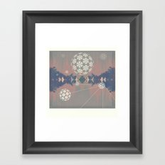 Natural Grid Framed Art Print
