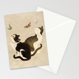 Minhwa: cats & butterflies (Korean traditional/folk art)  Stationery Cards