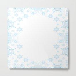 The background snow snowflakes Metal Print