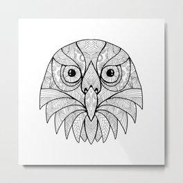 Australian Barking Owl Mandala Metal Print