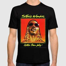 stevie wonder hotter than july tour 2020 logo muncrat T-shirt