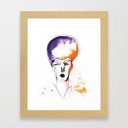 Butch Queen with Fabulous Hair Framed Art Print