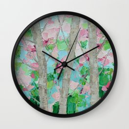 Dancing Cherry Blossom Trees Wall Clock