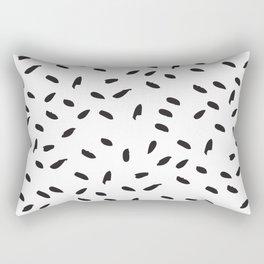 Flecks of Black Rectangular Pillow