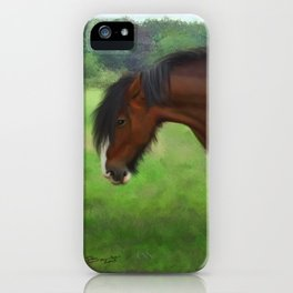 Shire Horse Mare iPhone Case