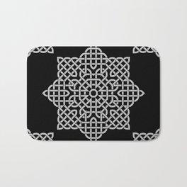 Black and White Celtic Star Bath Mat