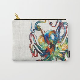 Colorful Octopus Art by Sharon Cummings Carry-All Pouch