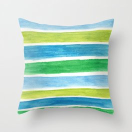 Sea Stripes Throw Pillow