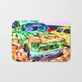 An Old Pickup Truck 1 Bath Mat
