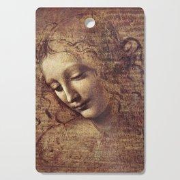Leonardo Da Vinci - Head of a young woman with tousled hair or, Leda Cutting Board