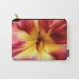 Maroon Day Lily Carry-All Pouch