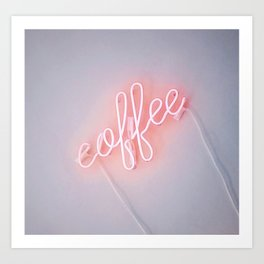 Neon Coffee Art Print