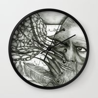 freud Wall Clocks featuring Freud by CasiRodriguez