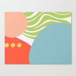 Peachy Beachy Canvas Print