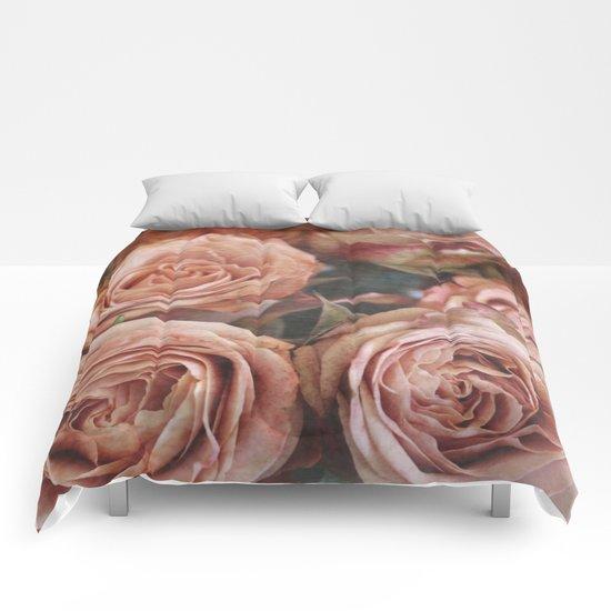 Roses orange Comforters