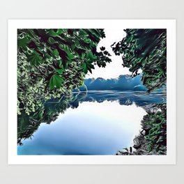 Spring Lake Airbrush Artwork Art Print