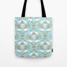 Cat damask Tote Bag