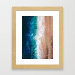Watercolour Summer Beach IV Framed Art Print