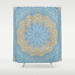 Something Blue Mandala Shower Curtain