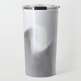 White and Minimal Travel Mug