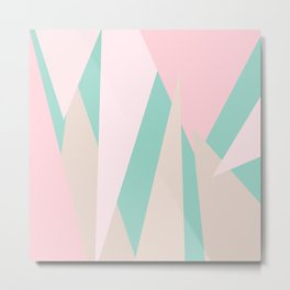 Blush Mint Mod Metal Print
