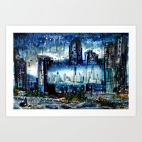 singapore Art Prints featuring Singapore  by sladja