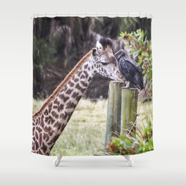 An Unlikely Couple Shower Curtain