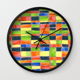 Warm Spring Time Grid Wall Clock