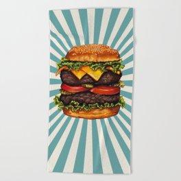 Cheeseburger - Double Beach Towel