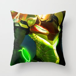 samus aran Throw Pillow