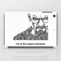 walter white iPad Cases featuring Walter White by christoph_loves_drawing