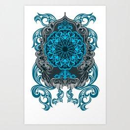 MIRROR BLUE ARABIAN STYLE Art Print