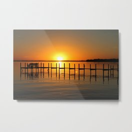 Clear Lake, Iowa Sunset Metal Print