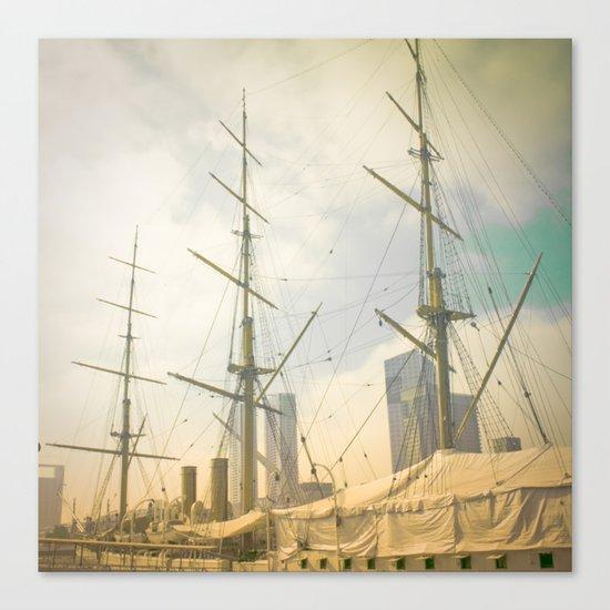 Vintage Old Ship Canvas Print