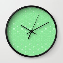 Stars and Stripes in Green Wall Clock