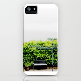 Bench in Overcast iPhone Case